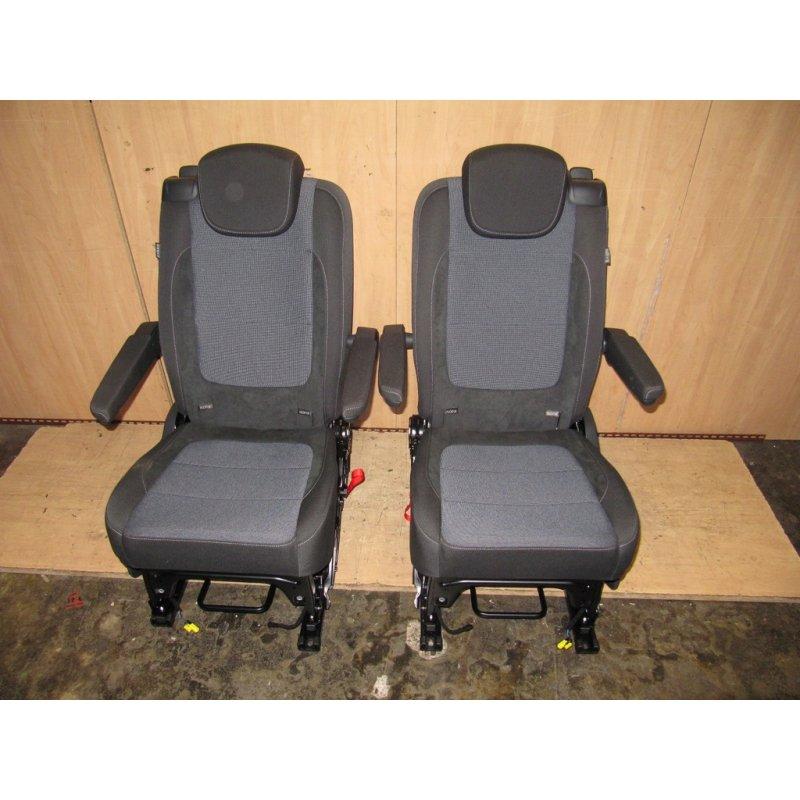 2x sitz hinten 2te sitzreihe titanschwarz denim vw. Black Bedroom Furniture Sets. Home Design Ideas